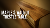 Making a Maple & Walnut trestle table with an inlaid Walnut river feature