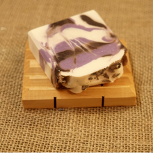 Load image into Gallery viewer, Black Amber and Lavender Cold Processed 4oz Bar Soap - MadeByMiller