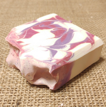 Load image into Gallery viewer, Black Raspberry & Vanilla Cold Processed 4oz Bar Soap - MadeByMiller