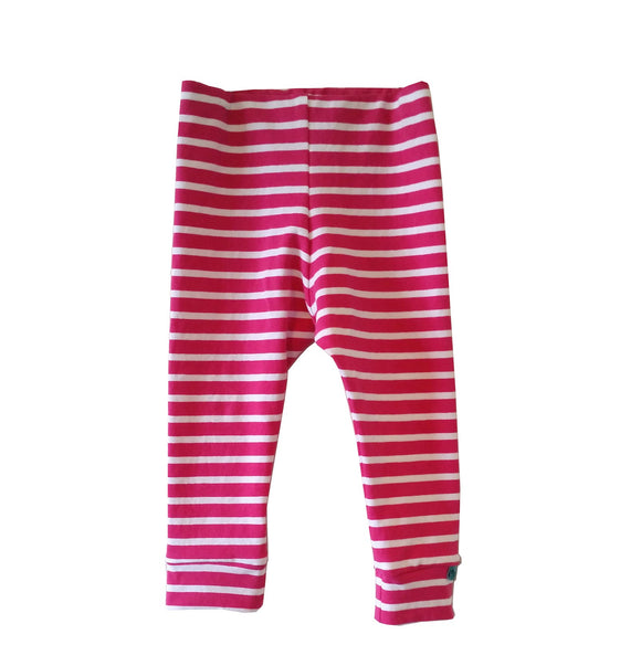 Pink Stripes Leggings - Organic Fabric