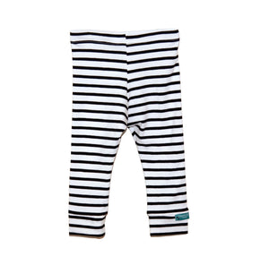 Black Stripes Leggings - Organic Fabric