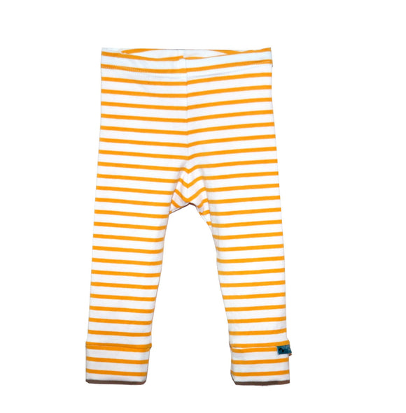 Yellow Stripes Leggings - Organic Fabric