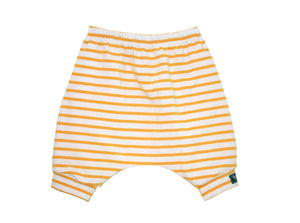 Yellow Stripes Harem Shorts