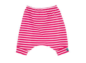 Pink Stripes Harem Shorts