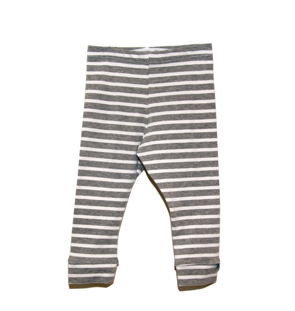 Grey Stripes Leggings - Organic Fabric
