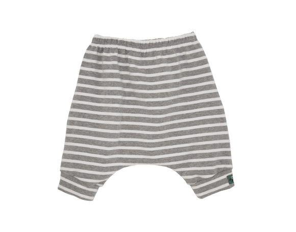 Grey Stripes Harem Shorts