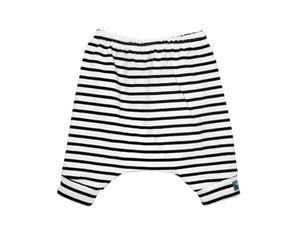 Black Stripes Harem Shorts