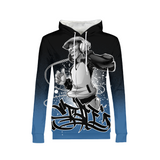 Hip Hop Vibes Womens All-Over Print Hoodie