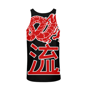 Kanji Japanese dragon Mens All-Over Pint Tank Top - Styleuniversal