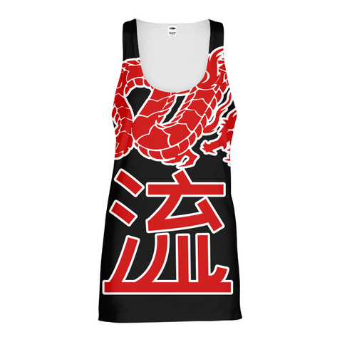 Kanji Japanese dragon Womens All-Over Pint Tank Top
