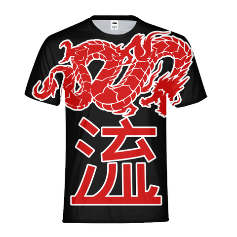 Kanji Japanese dragon Mens All-Over Print T-shirt