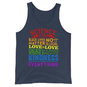 Human Rights Slogan Unisex  Tank Top - Styleuniversal