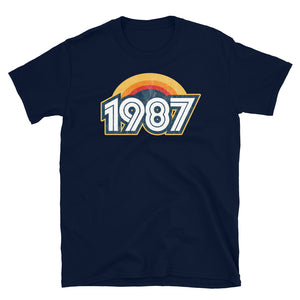1987 Retro Horizon Short-Sleeve Unisex T-Shirt