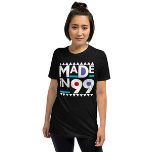Made in 1999 Retro 90s Short-Sleeve Unisex T-Shirt