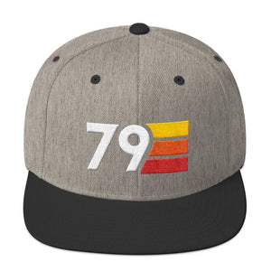 Retro 1979 40th Birthday Hat Mens Womens Flat Brim Snapback - Styleuniversal