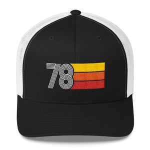 40th Birthday 1978 Vintage Retro Trucker Cap - Styleuniversal