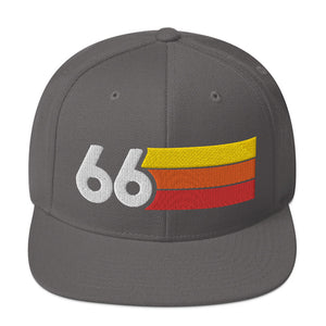 1966 RETRO NUMBER 66 BIRTHDAY REUNION ANNIVERSARY CUSTOM EMBROIDERED SNAPBACK HAT