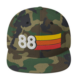 1988 RETRO NUMBER 88 BIRTHDAY REUNION ANNIVERSARY CUSTOM EMBROIDERED SNAPBACK HAT