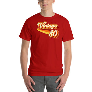 Vintage 1980 Warm Retro Lines CLASSIC FIT Short-Sleeve T-Shirt
