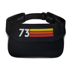 1973 RETRO BIRTHDAY ANNIVERSARY REUNION NUMBER 73 VISOR