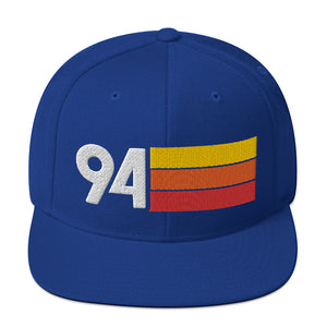 1994 RETRO NUMBER 94 BIRTHDAY REUNION ANNIVERSARY CUSTOM EMBROIDERED SNAPBACK HAT
