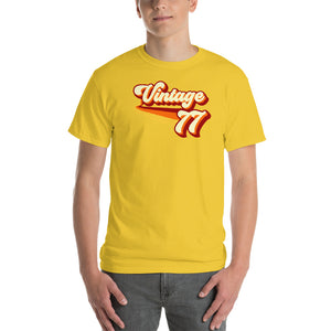 Vintage 1977 Warm Retro Lines CLASSIC FIT Short-Sleeve T-Shirt