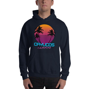 Cayucos California Retro 80's Hooded Sweatshirt