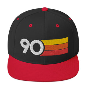 1990 RETRO NUMBER 90 BIRTHDAY REUNION ANNIVERSARY CUSTOM EMBROIDERED SNAPBACK HAT