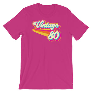 Vintage 1980 Retro Colors Short-Sleeve Unisex T-Shirt
