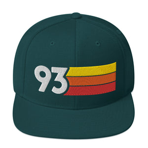 1993 RETRO NUMBER 93 BIRTHDAY REUNION ANNIVERSARY CUSTOM EMBROIDERED SNAPBACK HAT