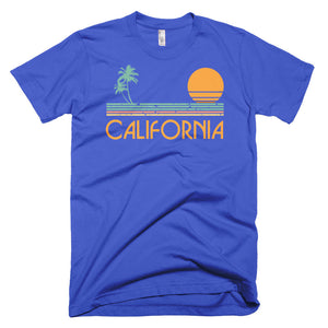 Vintage California Palm Trees and Sunset T-Shirt