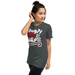 Naughty List By Nature Funny Christmas Short-Sleeve Unisex T-Shirt