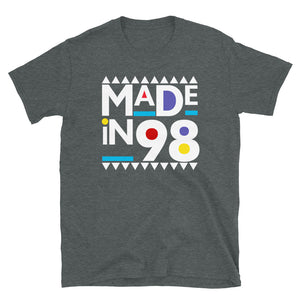 Made in 1998 Retro 90s Short-Sleeve Unisex T-Shirt