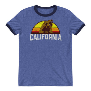 California Republic Retro Ringer T-Shirt - Styleuniversal