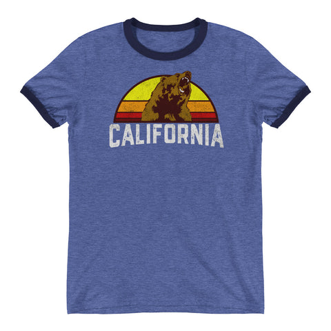 California Republic Retro Ringer T-Shirt