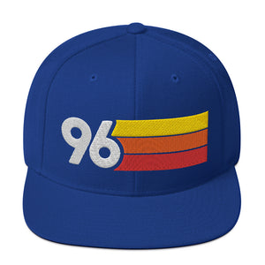 1996 RETRO NUMBER 96 BIRTHDAY REUNION ANNIVERSARY CUSTOM EMBROIDERED SNAPBACK HAT