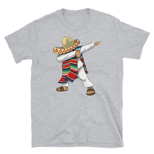 Mexican Poncho Sombrero Dabbing Latino Pride Hispanic Short-Sleeve Men's Women's Unisex T-Shirt