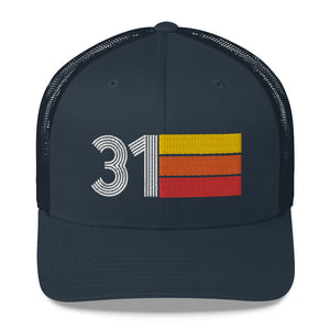 1931 RETRO BIRTHDAY GIFT NUMBER 31 MENS WOMENS TRUCKER HAT
