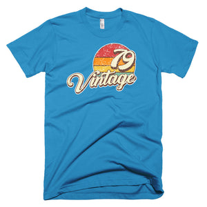 Vintage 1979 40th Birthday Retro Short-Sleeve T-Shirt for Men and Women