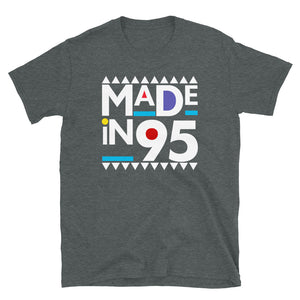 Made in 1995 Retro 90s Short-Sleeve Unisex T-Shirt
