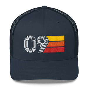 2009 Retro Birthday Gift Mens Womens Trucker Cap