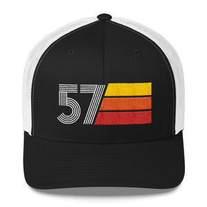 1957 Retro Birthday Gift Mens Womens Trucker Cap