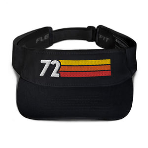 1972 RETRO BIRTHDAY ANNIVERSARY REUNION NUMBER 72 VISOR