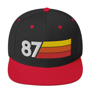 1987 RETRO NUMBER 87 BIRTHDAY REUNION ANNIVERSARY CUSTOM EMBROIDERED SNAPBACK HAT