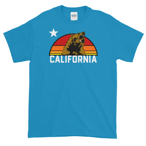 California Republic Retro Grizzly Bear Short-Sleeve T-Shirt - Styleuniversal