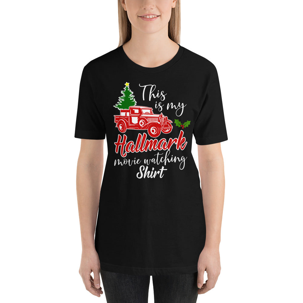 This is my Hallmark Christmas Movie Watching Shirt Vintage Truck Short-Sleeve Unisex T-Shirt - Styleuniversal