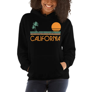 Vintage 80's California Beach Hooded Sweatshirt