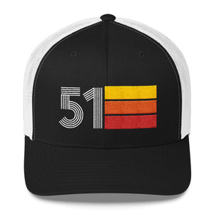 1951 Retro Birthday Gift Mens Womens Trucker Cap