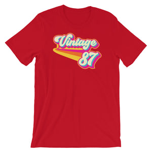 Vintage 1987 Retro Colors Short-Sleeve Unisex T-Shirt