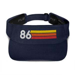1986 Retro Birthday Anniversary Reunion Number 86 Visor